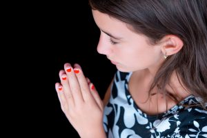 Hispanic Girl Praying